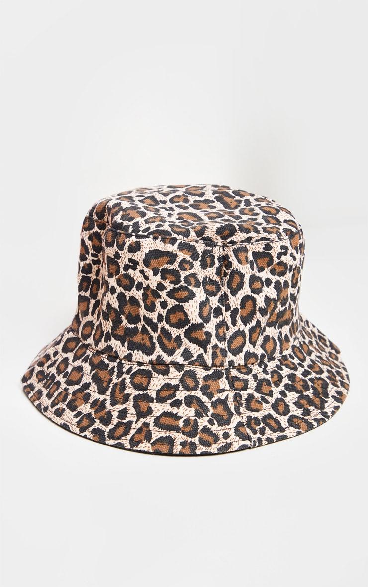Leopard Print Bucket Hat 1