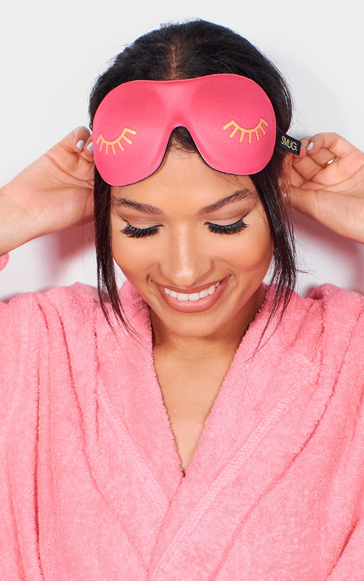 Smug Eyelash Friendly Sleep Mask Pink Wink 1