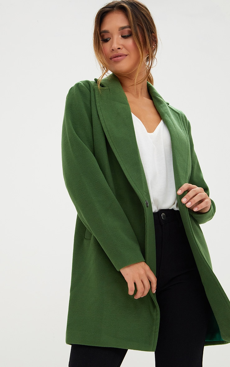 Green Double Breasted Coat 1
