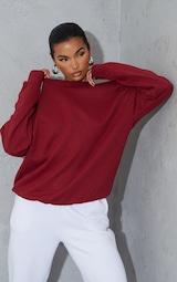 Maroon Ultimate Oversized Sweatshirt 1