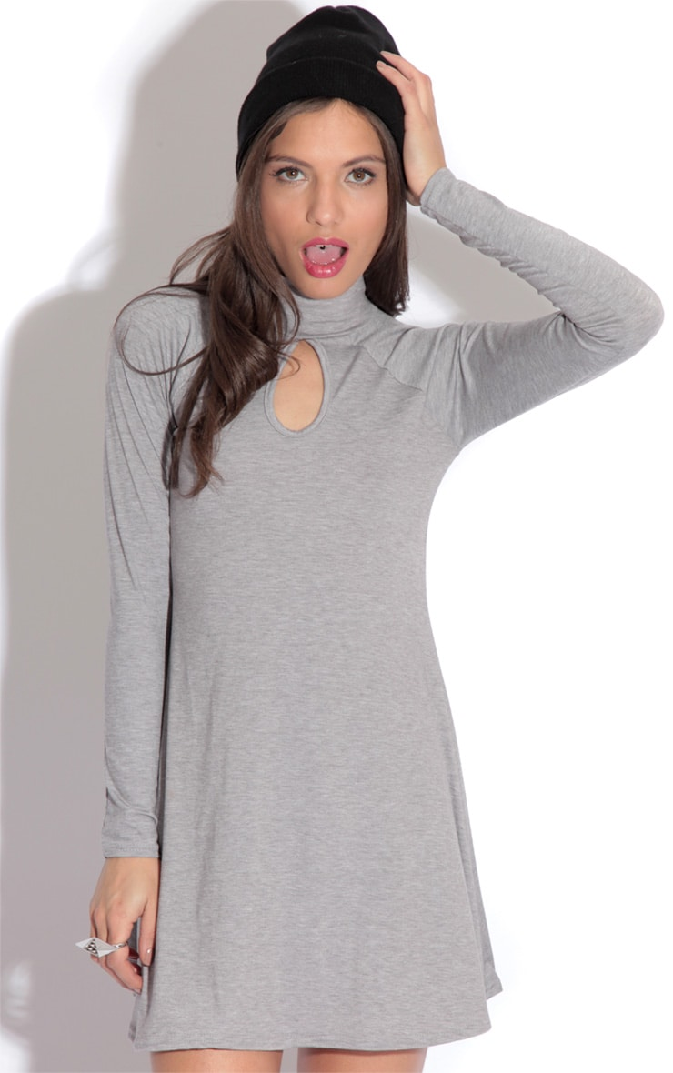 Kira Grey Swing Dress 1