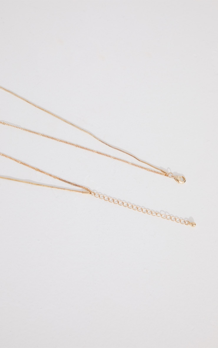Gold Diamante Scorpion Layering Necklace 4