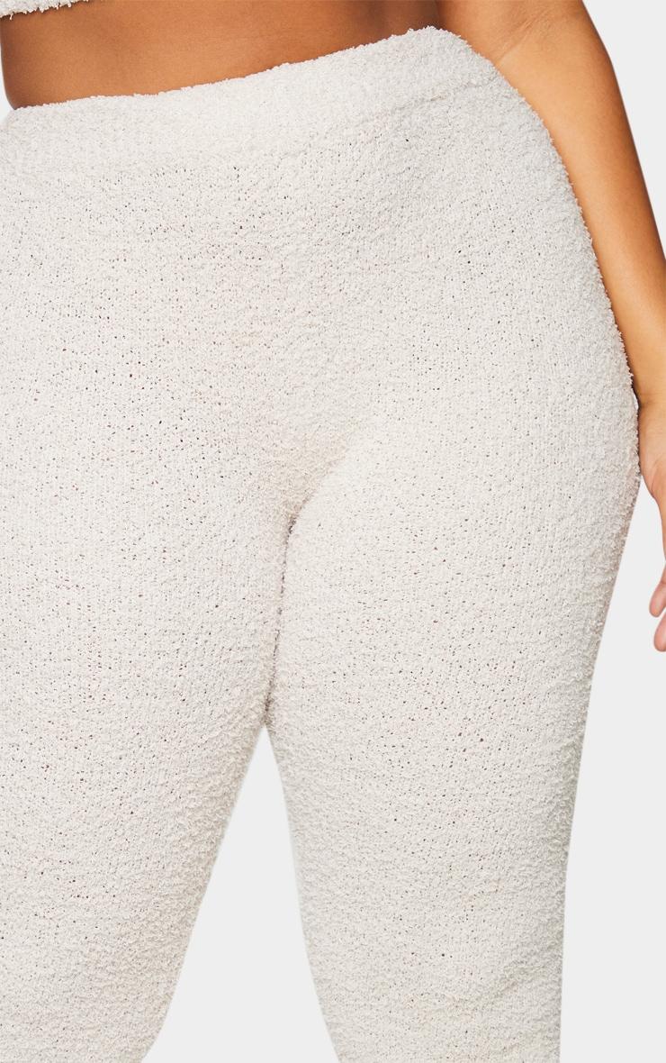 Plus Stone High Waist Chenille Flared Pants 4