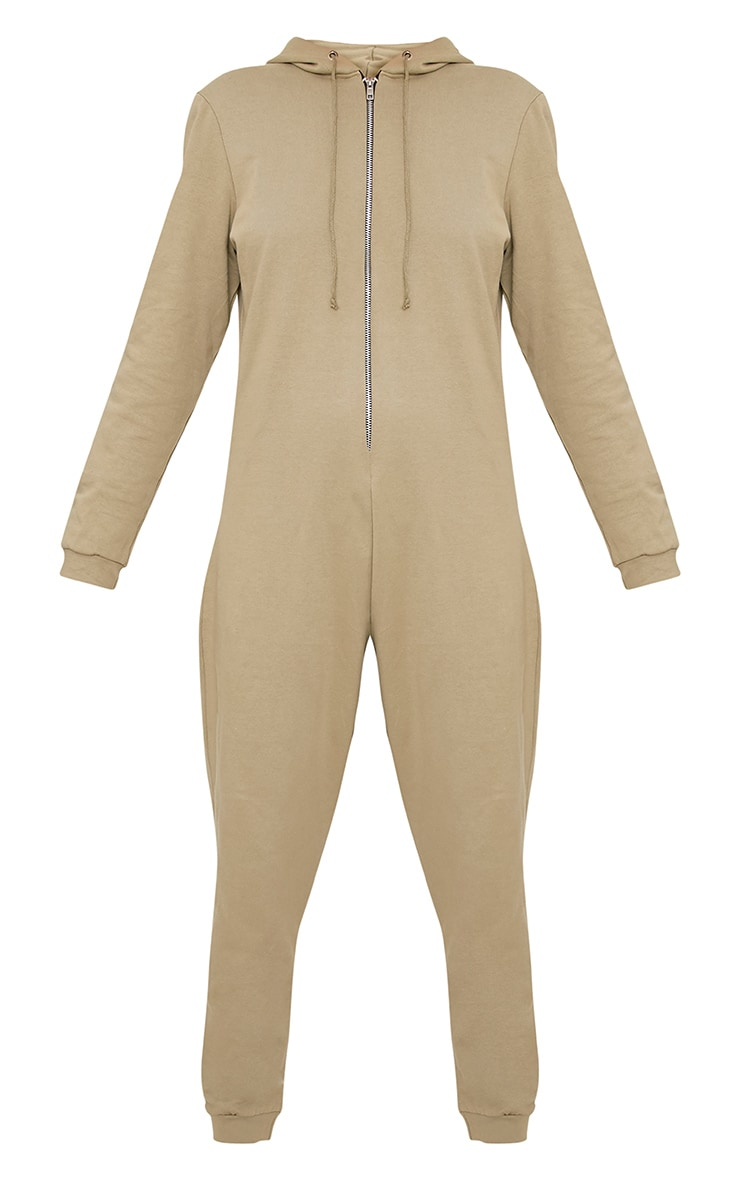 Gillian Sage Sweater Oversized Zip Front Jumpsuit 3