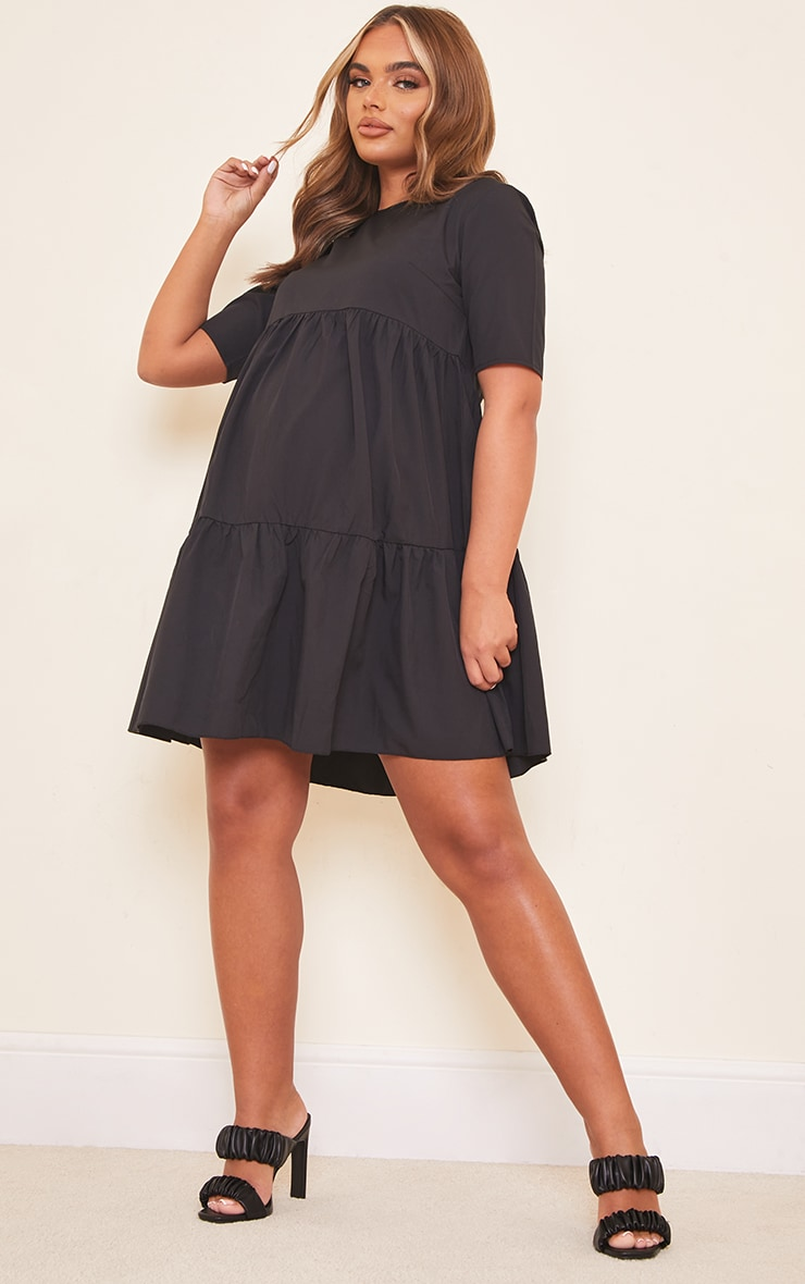 Maternity Black Ruffle Mini Dress 3