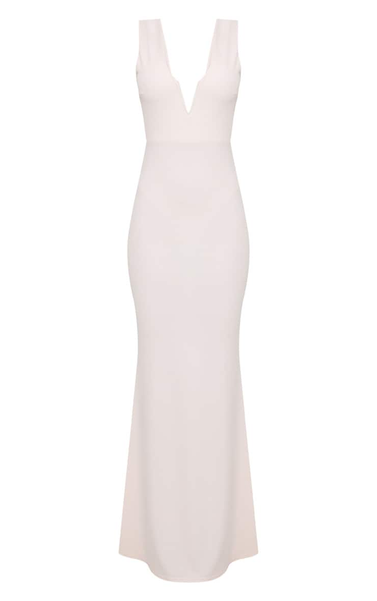 Nude V Bar Plunge Maxi Dress 3