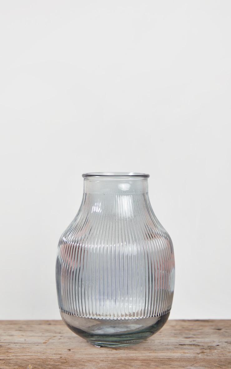 Grey Glass Round Vase 4