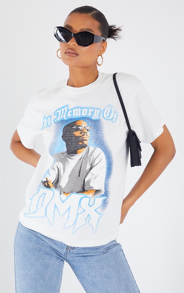White Loving Memory Of DMX Print T Shirt 1