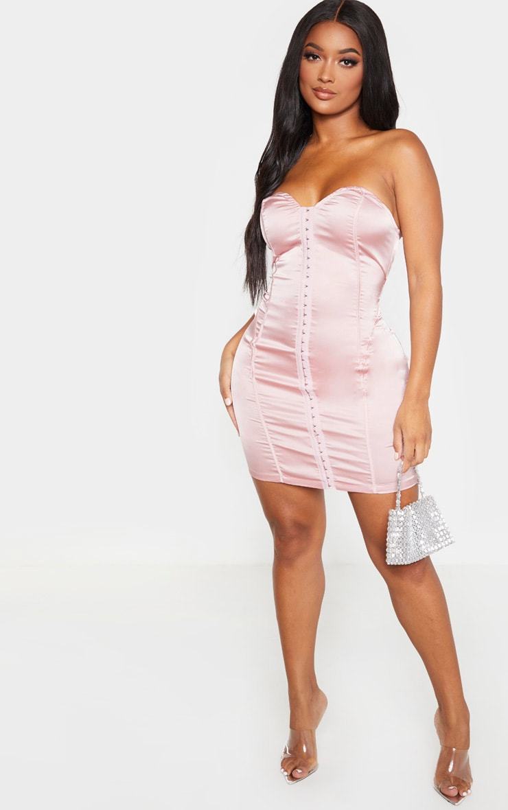 Shape Rose Sweetheart Hook And Eye Bodycon Dress 4