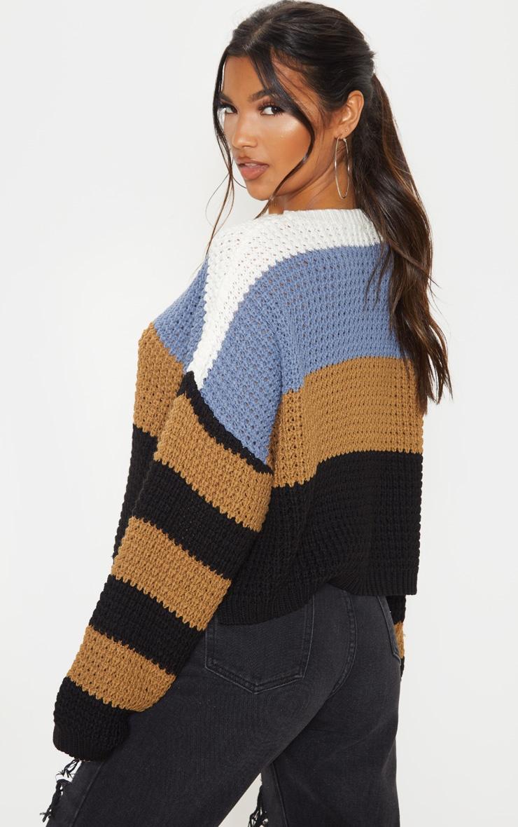Multi Stripe Knitted Sweater 3