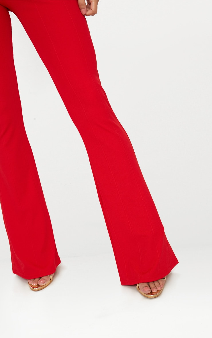 Red Bandage Flared Pants 5