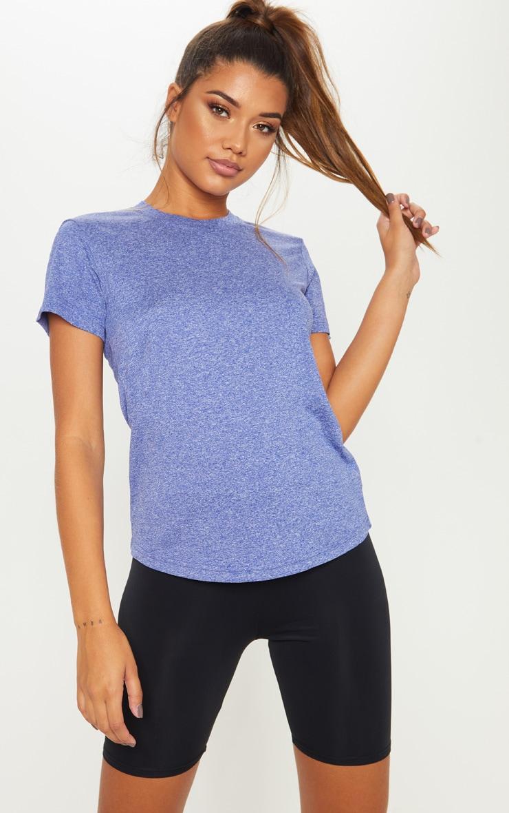 Blue Basic Sports T Shirt 1