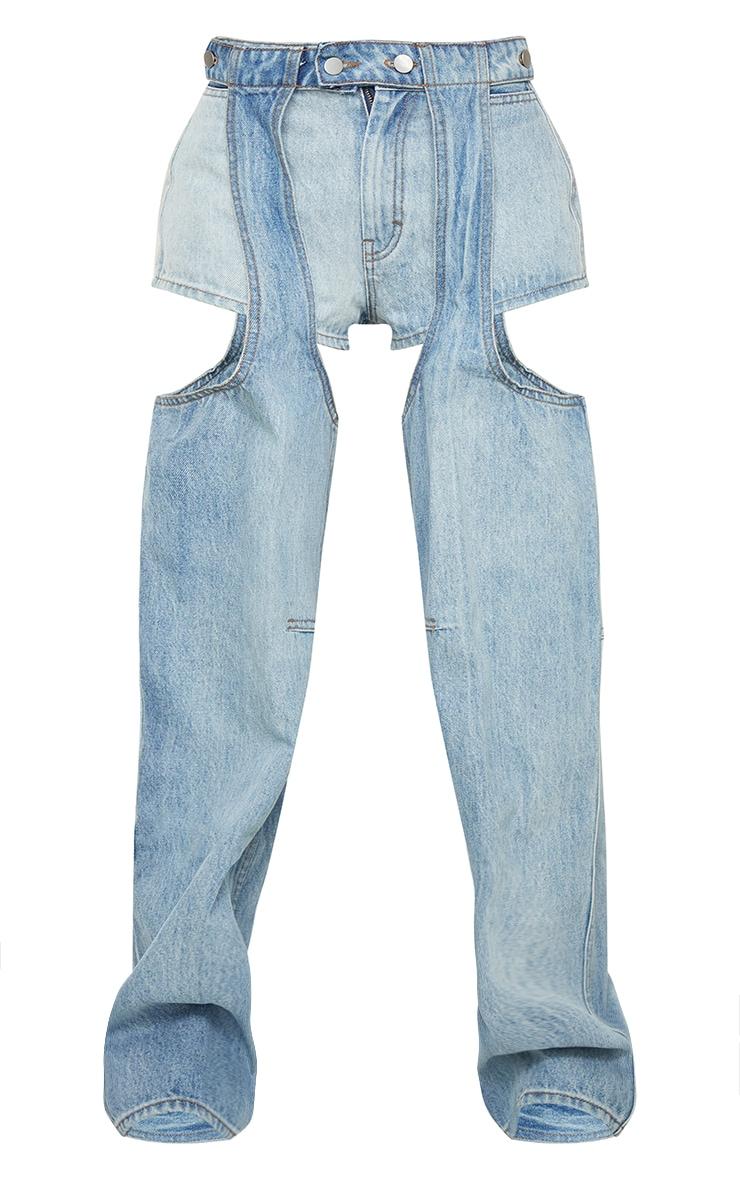 Vintage Wash Chap Jeans 6