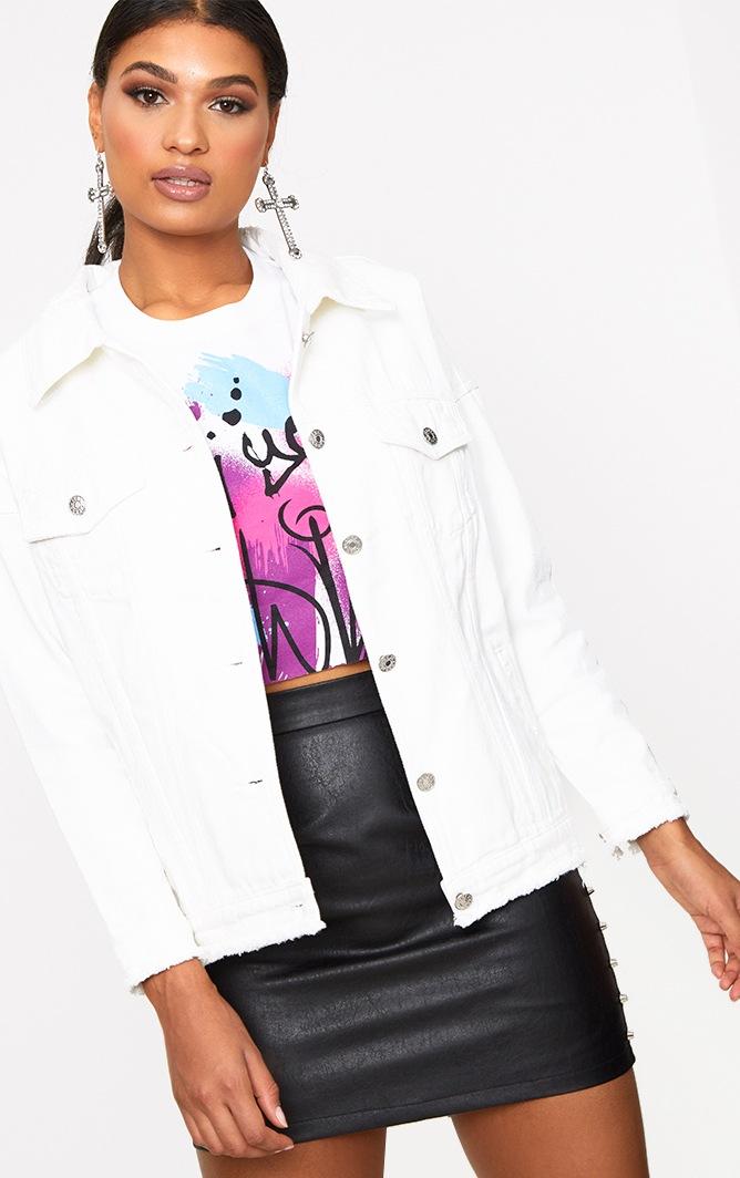 Ecru Hard Heart to Break Oversized Denim Jacket 2