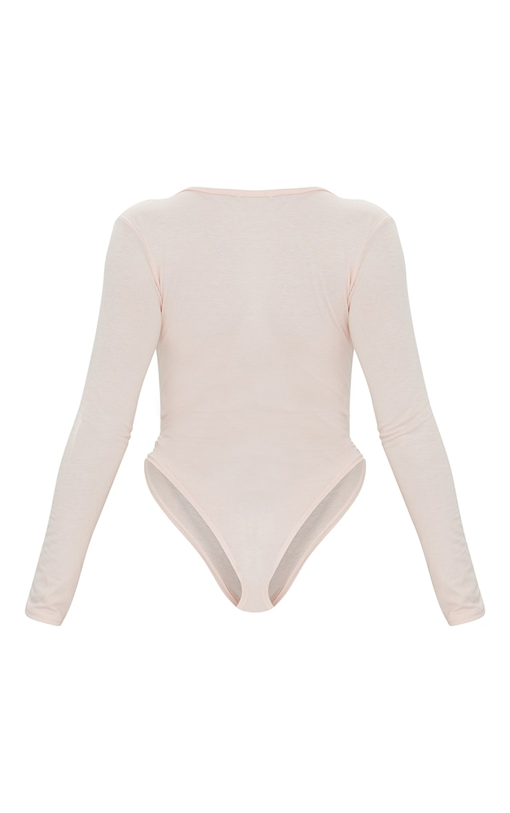 Petite Domineca Nude Basic V Neck Bodysuit 6