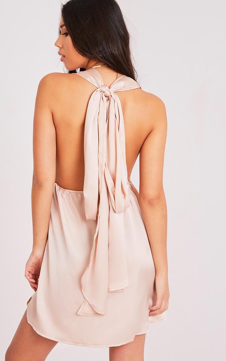 Tara Champagne Silky Multiway Mini Dress 2