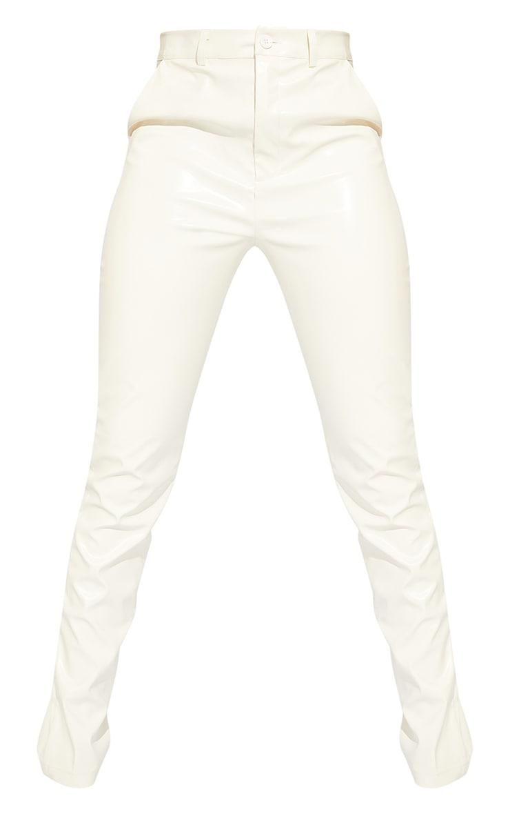 Tall White PU Trousers 5
