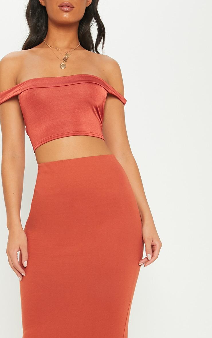 Brick Jersey Midaxi Skirt 5
