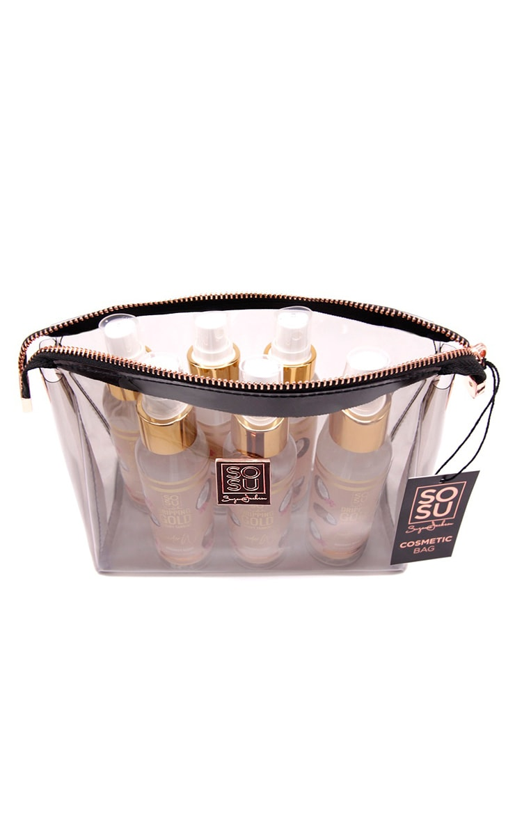 SOSU Transparent Travel Cosmetic Bag 4