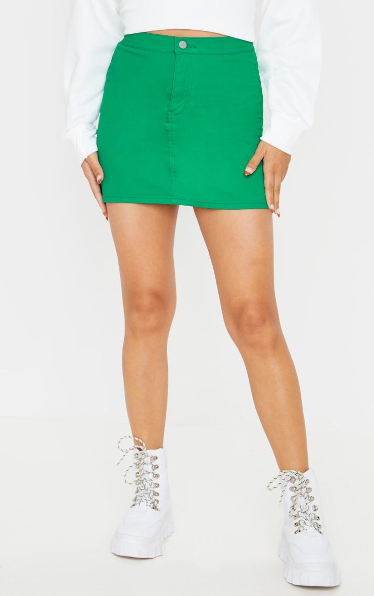 Jupe en jean vert disco 2
