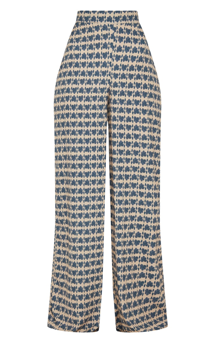 Stone Printed Wide Leg Trousers 3