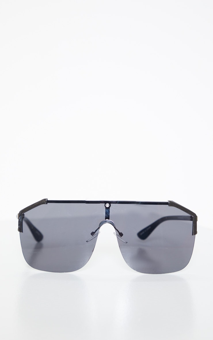 Black Oversized Tinted Sunglasses 2