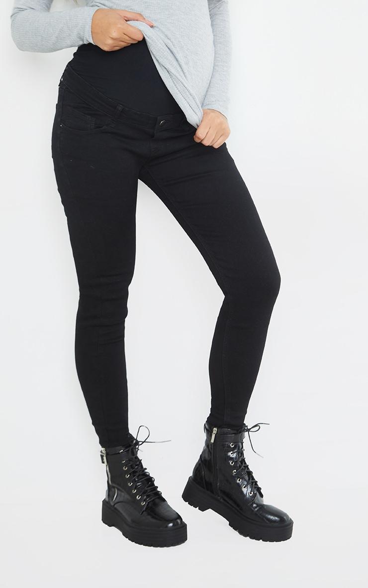Maternity True Black Skinny Jeans 2