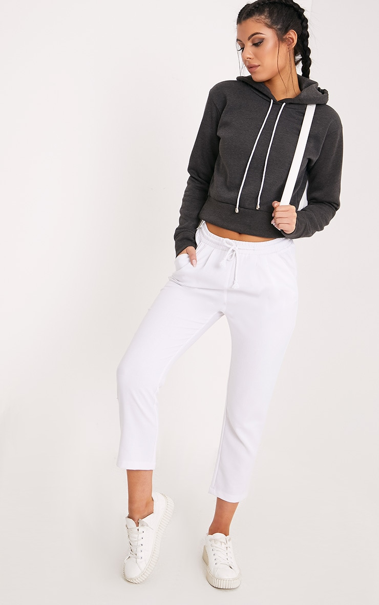 Belle Charcoal Cropped Hoodie 4