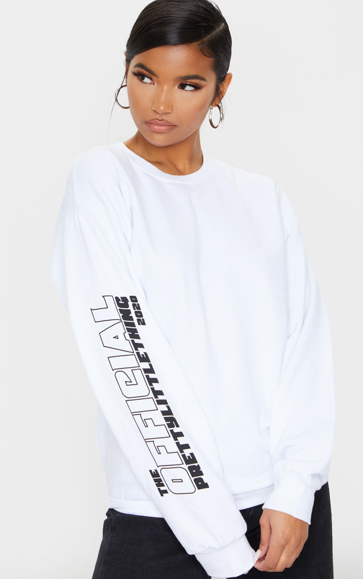 PRETTYLITTLETHING White The Official 2020 Sweat 4