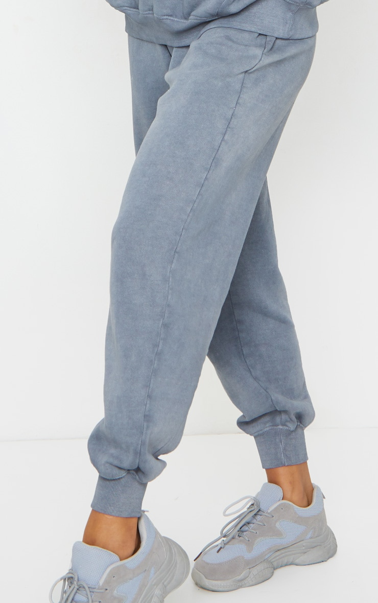 Charcoal Grey Washed High Waist Joggers 4