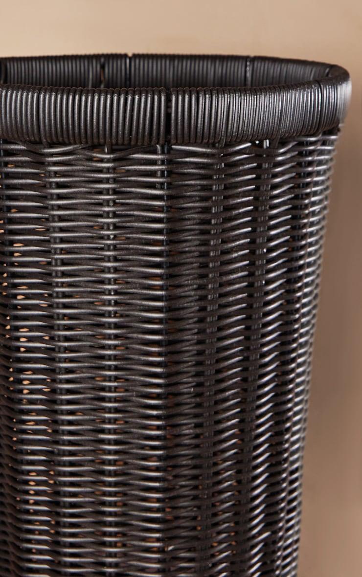 Black Wicker Medium Storage Basket 4