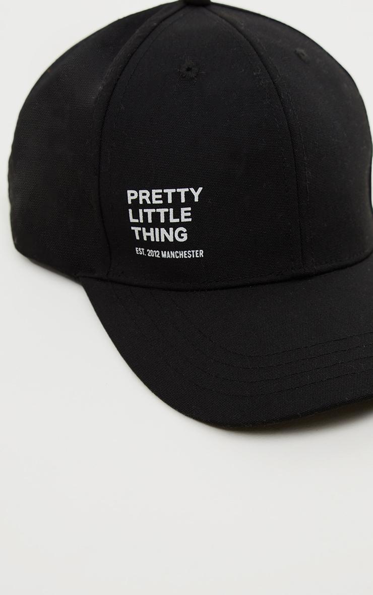 PRETTYLITTLETHING - Casquette noire à slogan 4