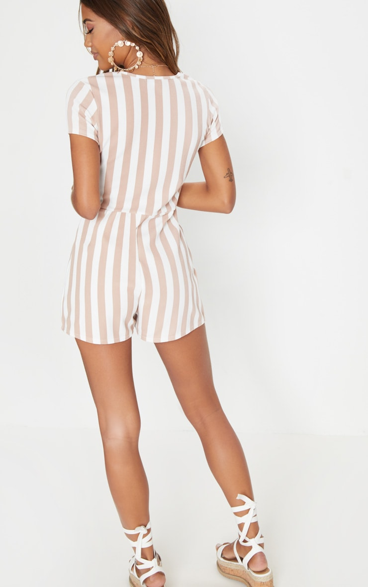 Stone Stripe Tortoise Shell Playsuit 2