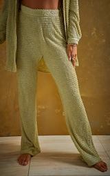 Green Textured Beach Pants 2