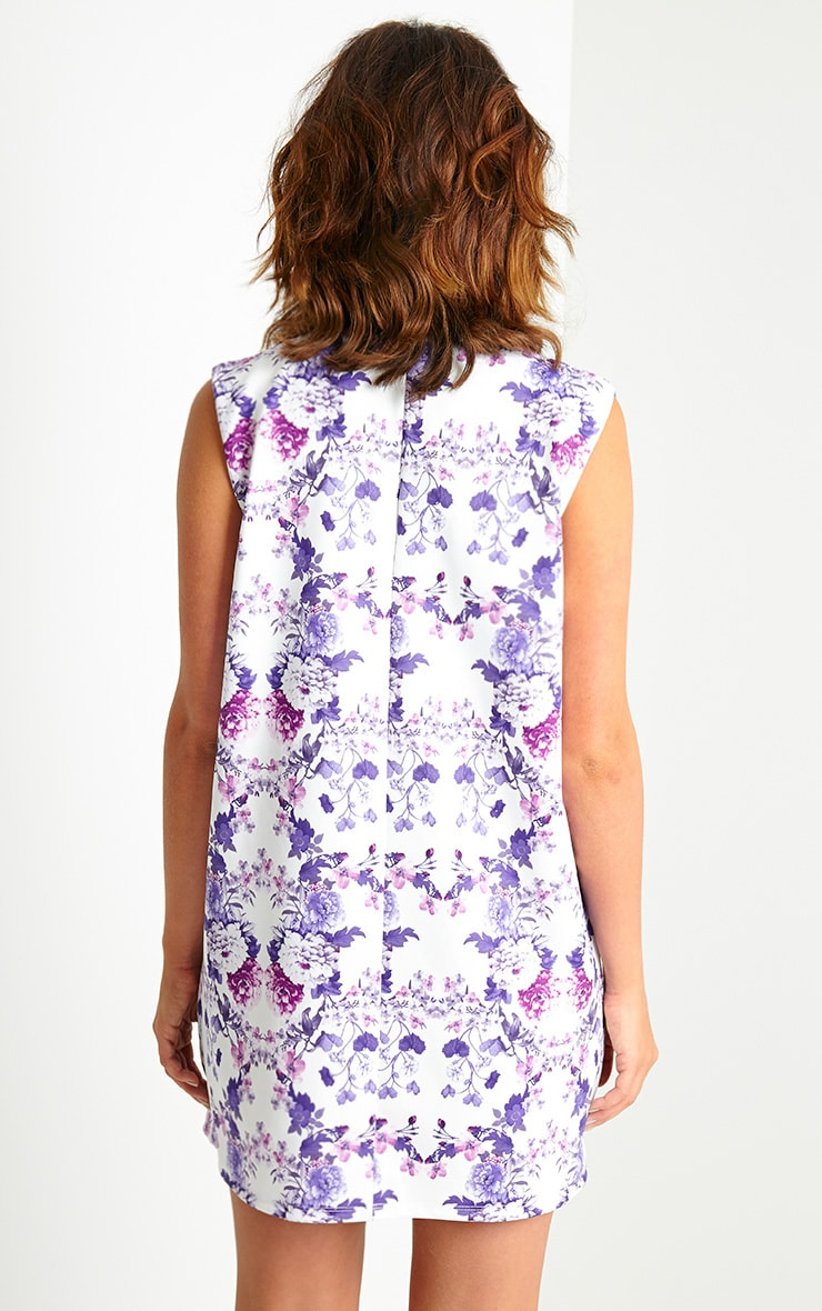 Imogene Lilac Floral Loose Fit Shift Dress 2
