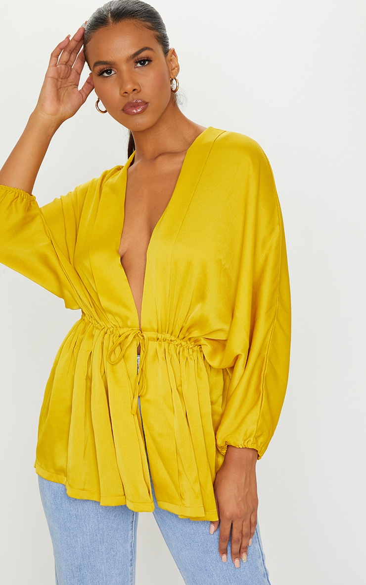 Golden Yellow Kimono Top 1