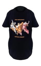 Black Bad Influence Cherub T Shirt 4