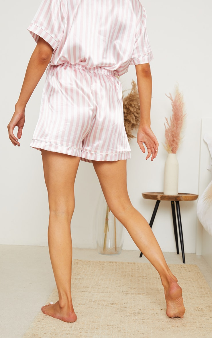 Maternity Pink Stripe  Mama PJ Shorts 3
