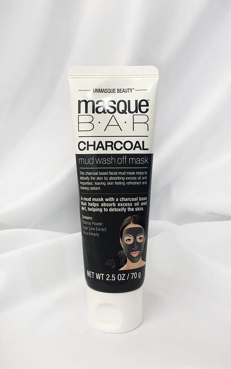 MasqueBar Charcoal Mud Wash Off Mask Tube 1