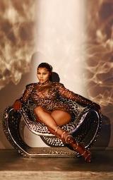 Black Diamante Mesh Bodycon Dress 1