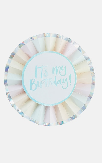 Ginger Ray Pastel Birthday Badge