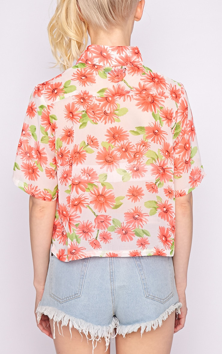 Reyna Multi Floral Cropped Shirt  3