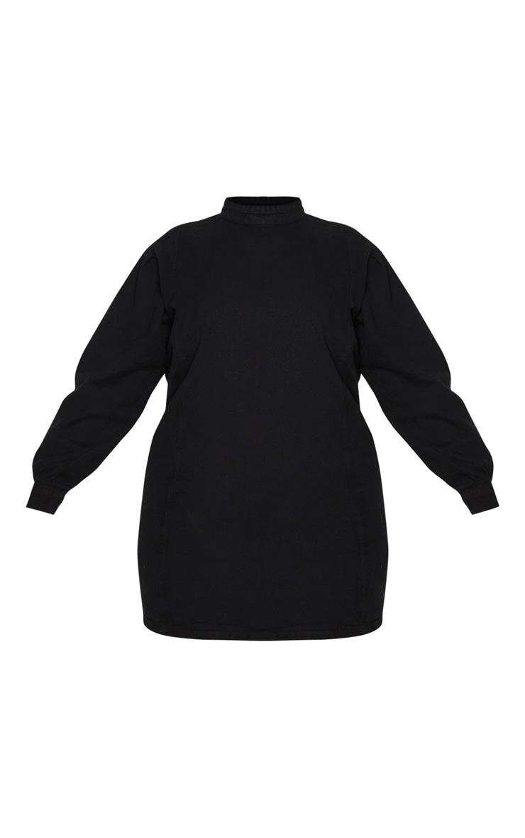 Plus Black Denim Shift Style Dress 3