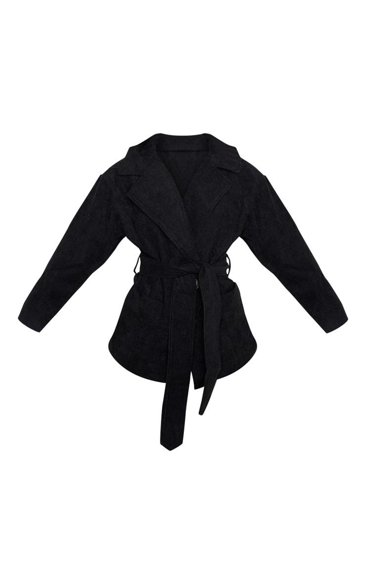 Petite Black Cord Collar Tie Waist Jacket  3