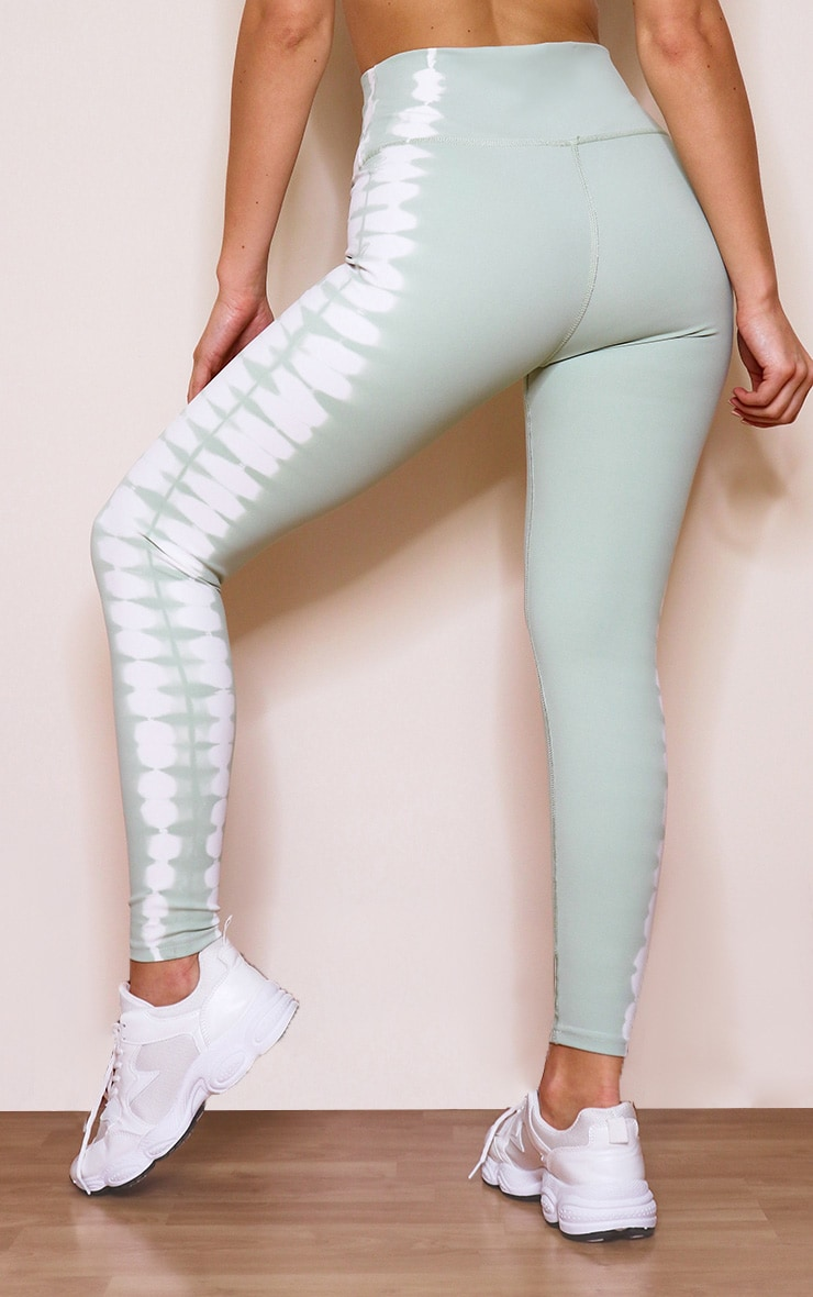 Mint Tie Dye High Waist Leggings 3