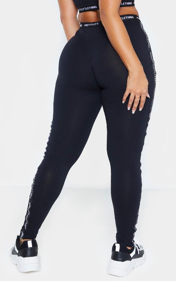 PRETTYLITTLETHING Shape Black Jersey Tape Leggings 4