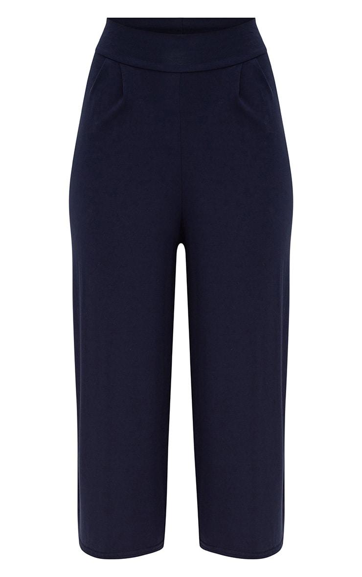 Jupe-culotte basique bleu marine 3
