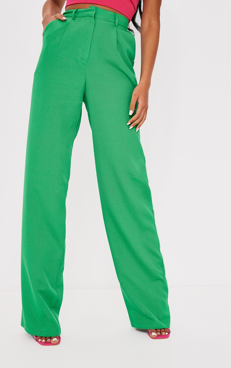 Tall Green Highwasited Suit Pants 2