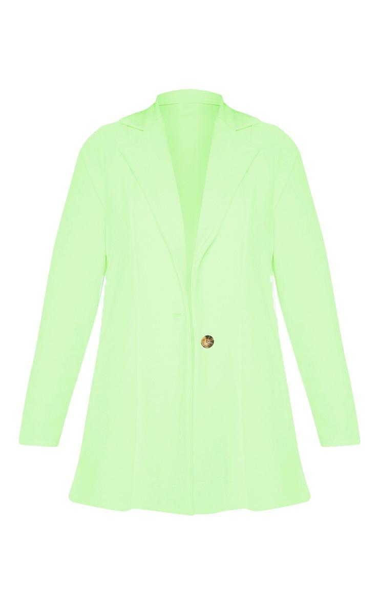 Neon Green Oversized Boyfriend Blazer  3
