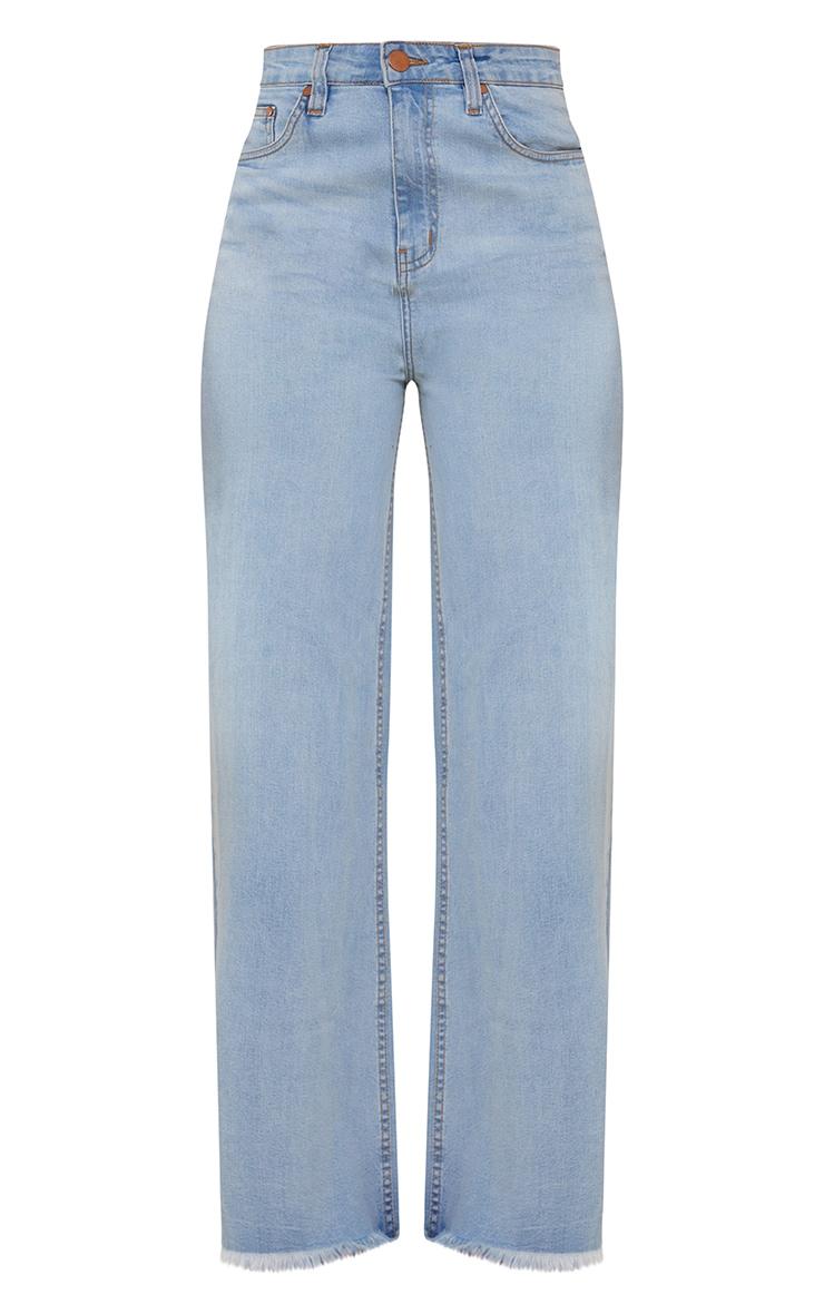 Shape Vintage High Waist Fray Hem Wide Leg Jeans 5